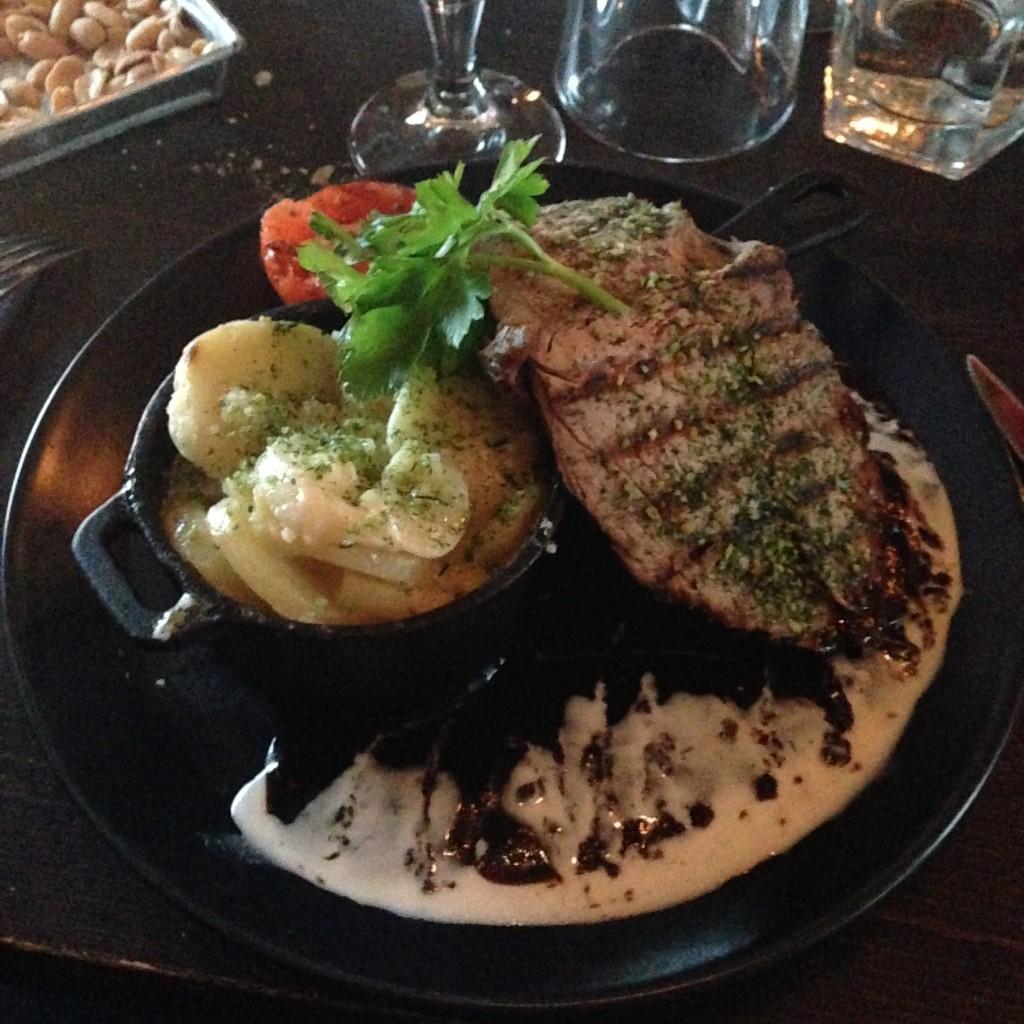 Mat på NOBA bar i Kungsbacka